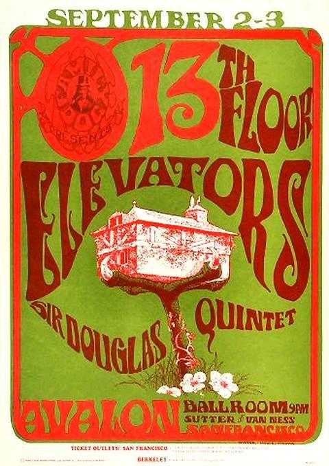 13th floor elevators psychedelic concert flyer boho for 13th floor elevators psychedelic circus