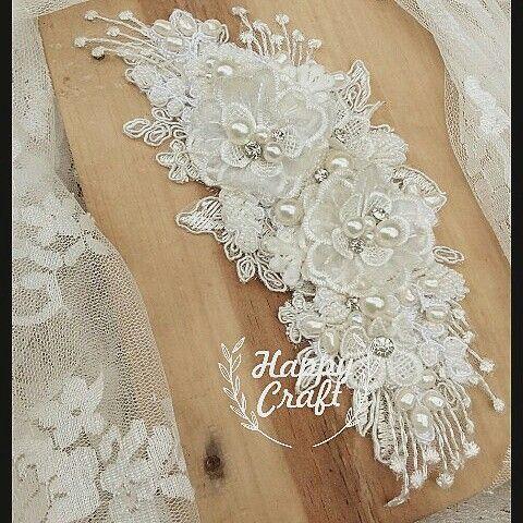 wedding headpiece,  lace, hair accessories, handmade