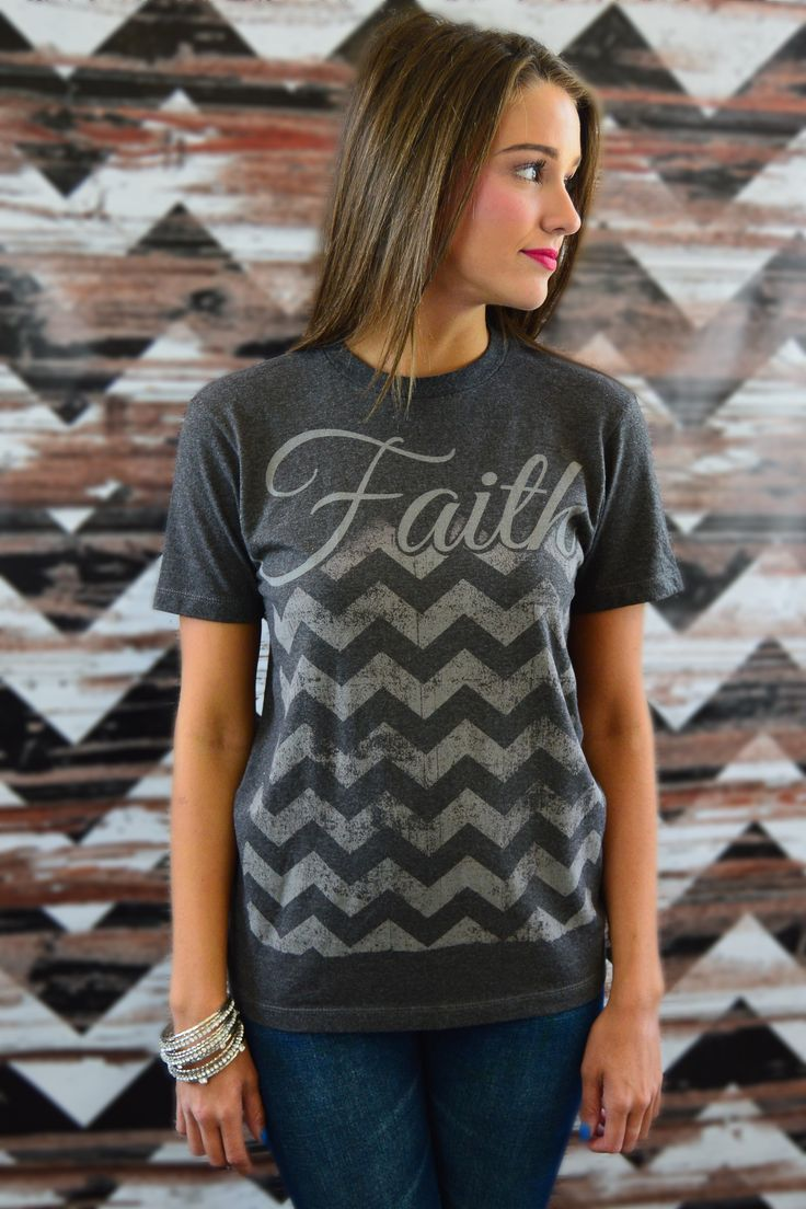 Having Faith is always in Fashion! These limited quantity tees exude a message and our signature chevron print all women can embrace - and it's worth mentioning they are constructed of the softest cotton to ensure comfort!