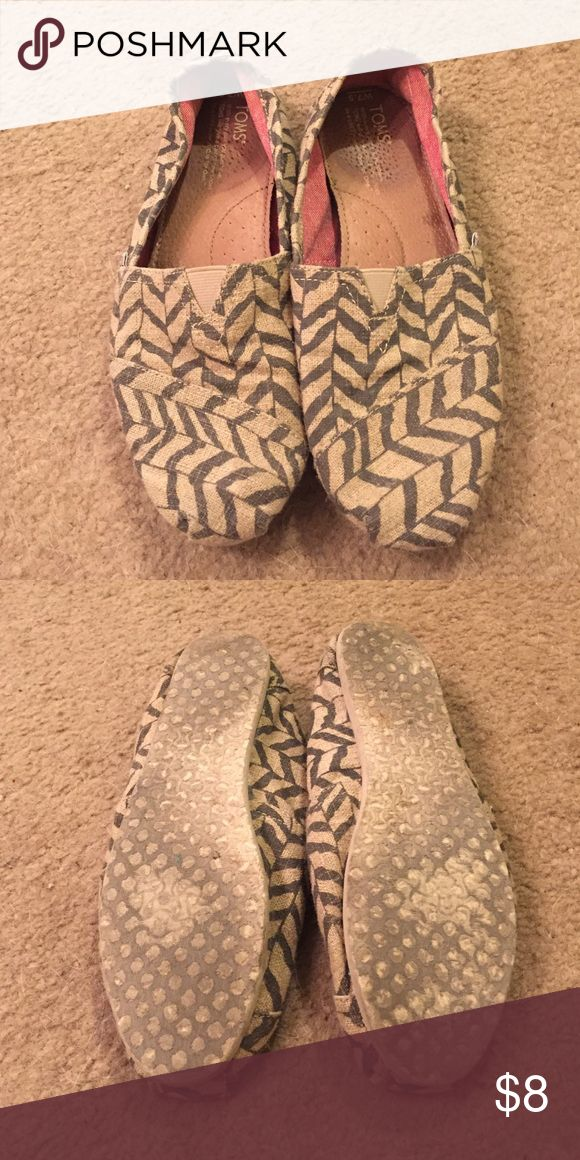 Chevron toms Super cute chevron toms. Used but still look good on and have plenty of life left! Size 7.5. TOMS Shoes Flats & Loafers