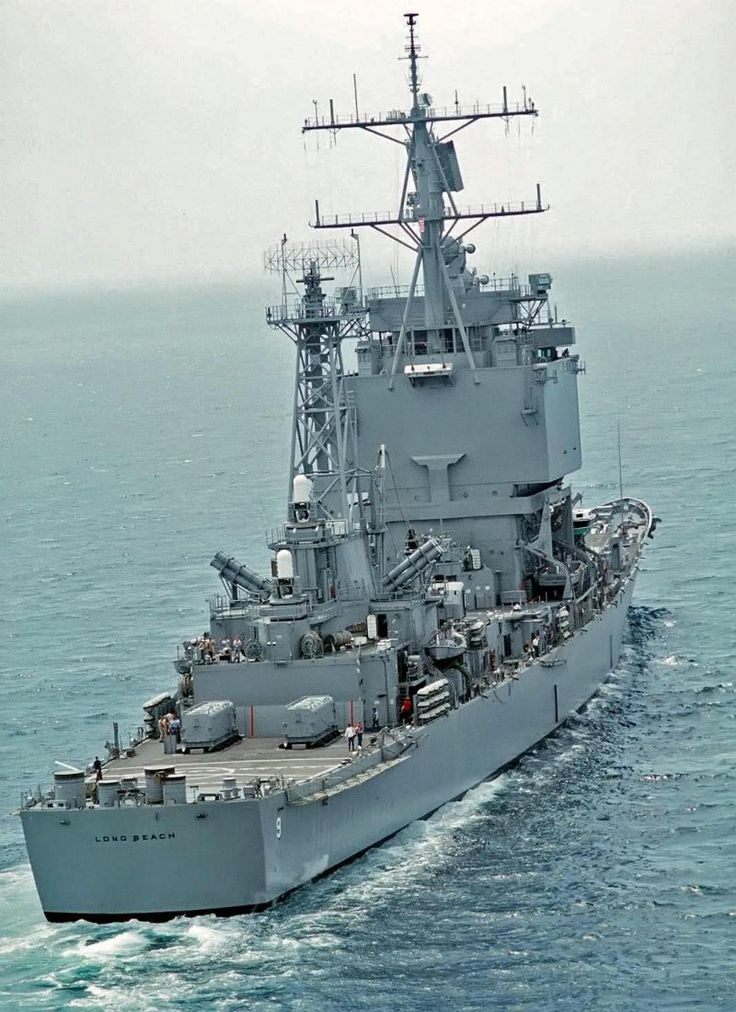 One of a kind: Stern view of nuclear-powered guided ... Navy Cruiser Ships