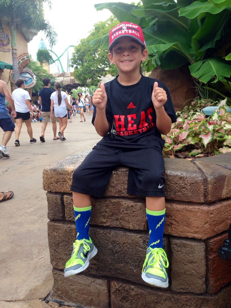 Are You Kidding on vacation in Islands of Adventure. Our socks go everywhere!