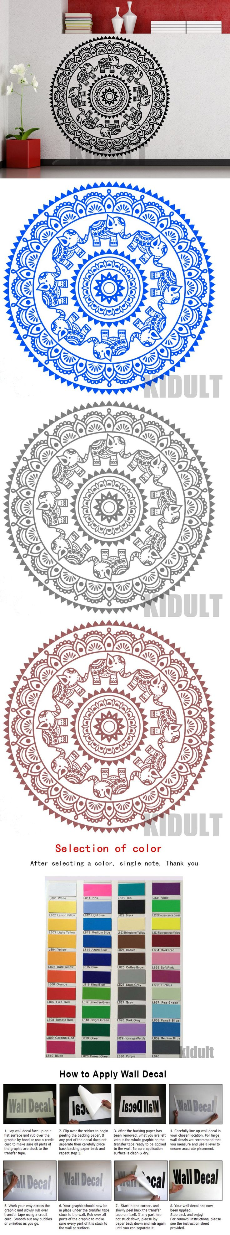 Best 25 indian yoga ideas on pinterest sanskrit words yoga for creative wall sticker mandala indian yoga lotus folded wall stickers vinyl stickers bedroom home decorative wall painting amipublicfo Image collections