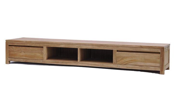 Siesta 240 TV meubel  Teak Audio TV dressoir  Strakke lijnen   240 x 50 x 37(H) € 459
