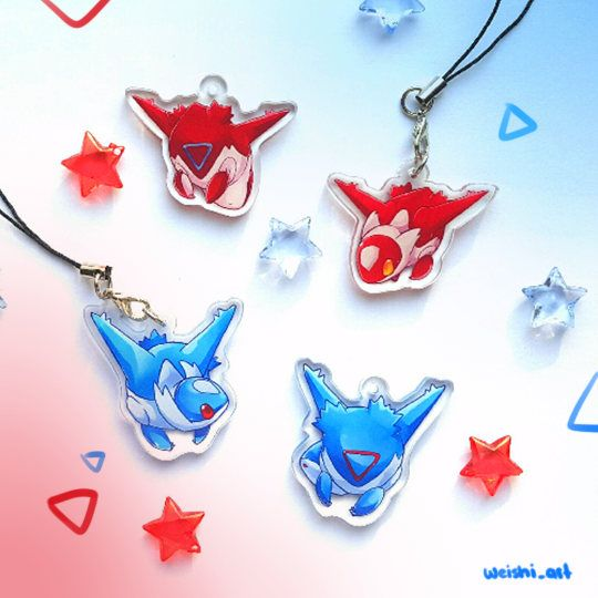 Pokemon Latias Acrylic Charms