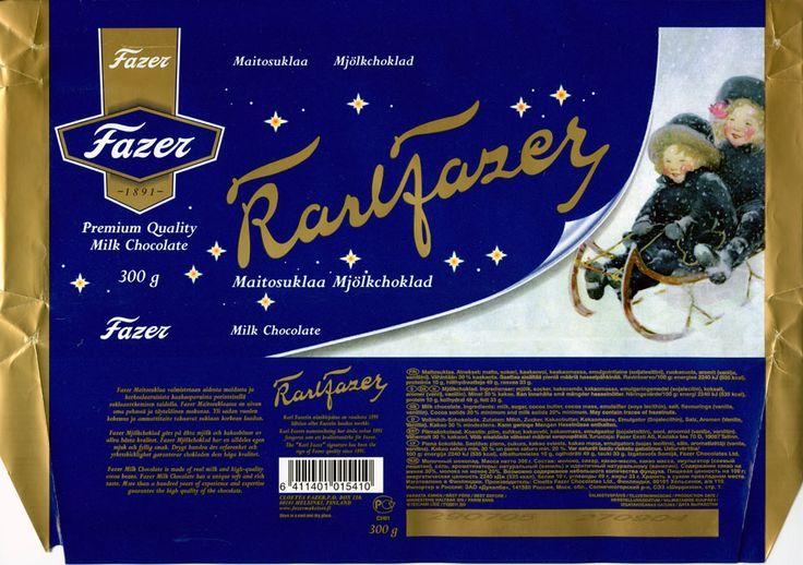 Karlfazer , milk chocolate, 300g, 27.09.2004 Cloetta Fazer P.O. Helsinki Finland