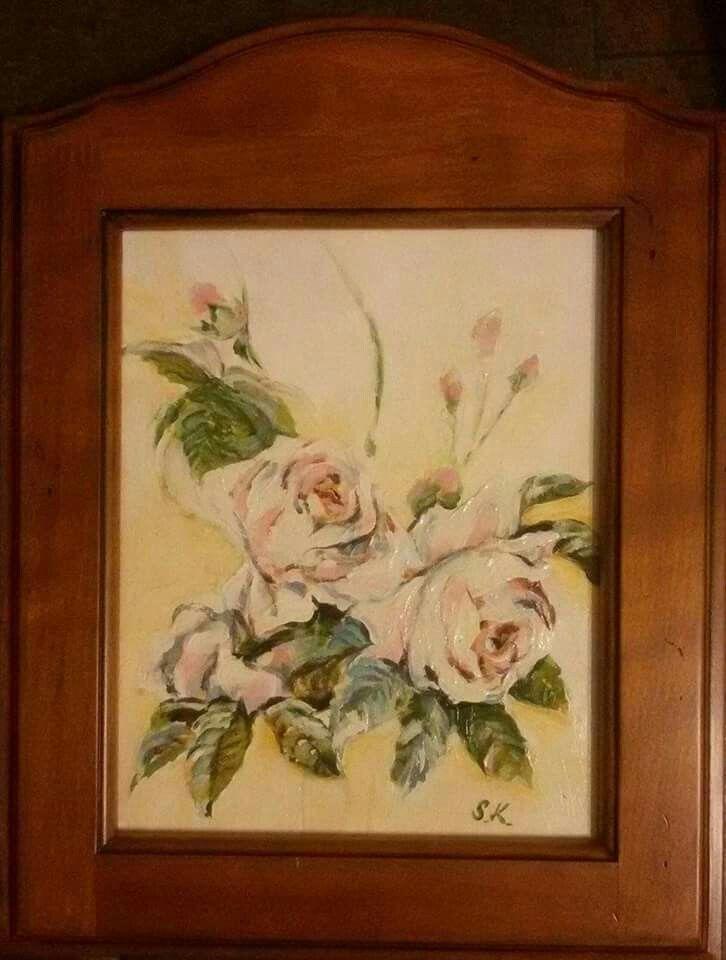"""Růže"", akryl 20x25 cm"