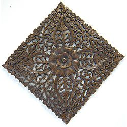 @Overstock.com - Reclaimed Teak Wood Large Lotus Wall Hanging (Thailand) - This beautiful piece of wall art is sure to get noticed in any room. Made of reclaimed teak wood, this stunning wall hanging depicts an elegant lotus design.  http://www.overstock.com/Worldstock-Fair-Trade/Reclaimed-Teak-Wood-Large-Lotus-Wall-Hanging-Thailand/5116668/product.html?CID=214117 $98.99