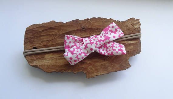 Baby Headband Baby Bow Headband Girl Bow Headband  plaid