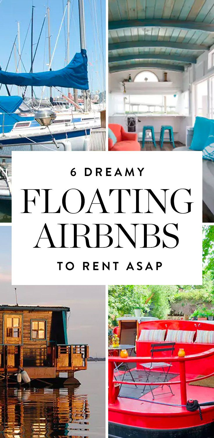 Get ready to see your next vacation destination by water, folks: Houseboats are the new hotel rooms. Discover these amazing floating Airbnbs here.