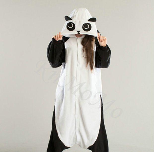 KIGURUMI Animal Pajamas Pyjamas Costume Onesuit Adult / Kid SLOTH-panda