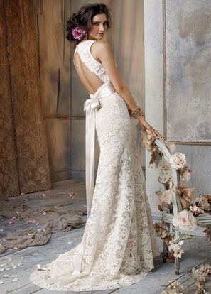 JIM HJELM BRIDAL GOWNS, WEDDING DRESSES: STYLE JH8011 Ivory Alencon Lace over
