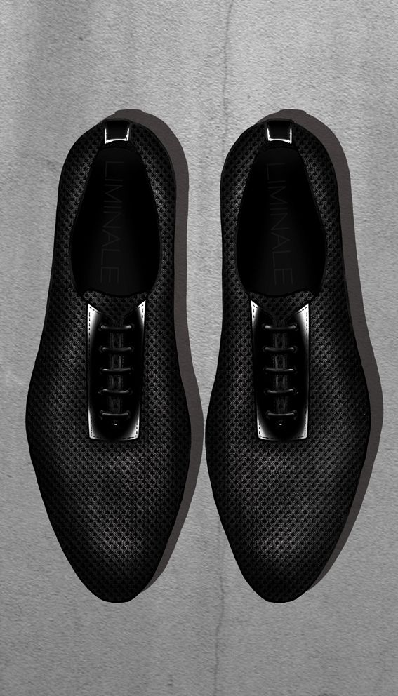 Airmesh and calfskin men's lace Liminale Nowhere design