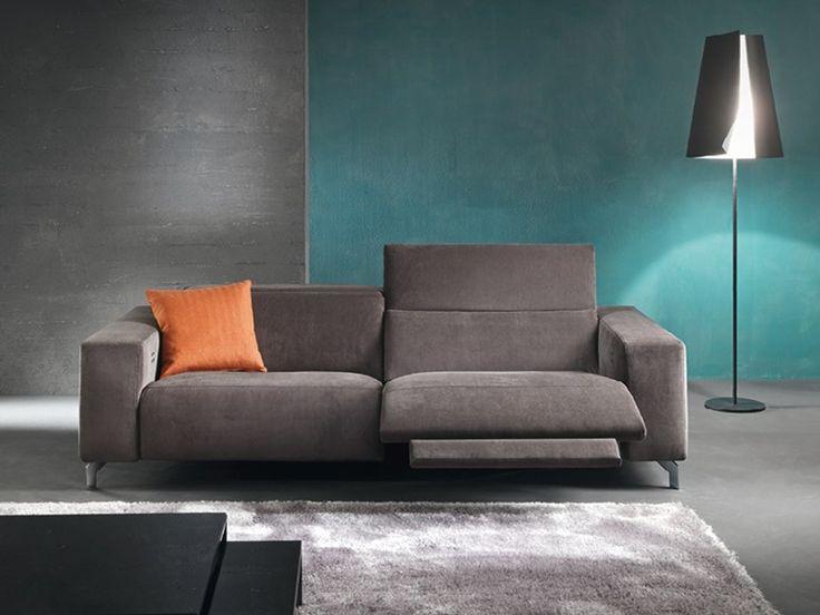 Divano reclinabile a 3 posti con movimento elettrico SOHO by Divanidea