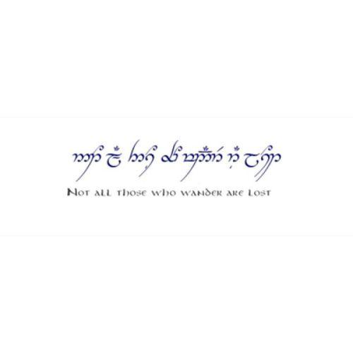 elvish tattoo quotes. Lord Of The Rings ...