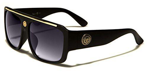 Flat Top Hip Hop Rapper Retro Aviator Sunglasses