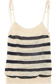 Finn open-knit linen-blend top