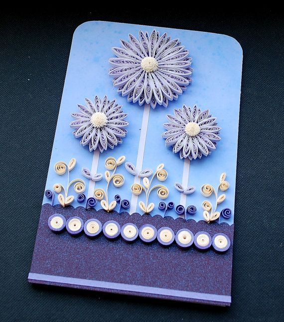 Quilling greeting card by myCOLOREDpaper on Etsy