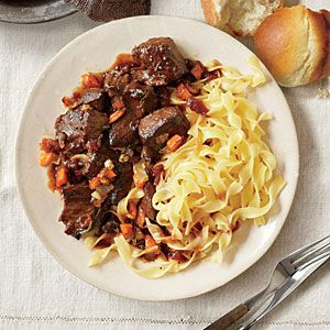 Beef Daube Provecal - This is in the crock pot now and making the entire house smell wonderful!  No wonder it is the #1 recipe from this month's Cooking Light with the 25 favorites...perfect for a cool, rainy fall day!