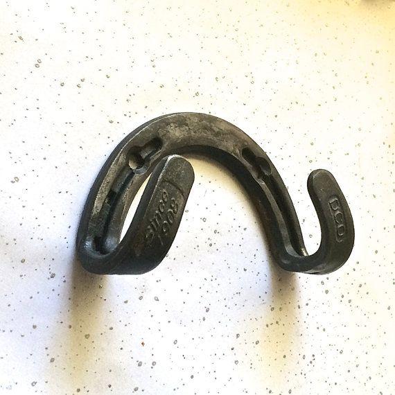 Key holder wall hook from real horseshoe. by BlacksmithCreations