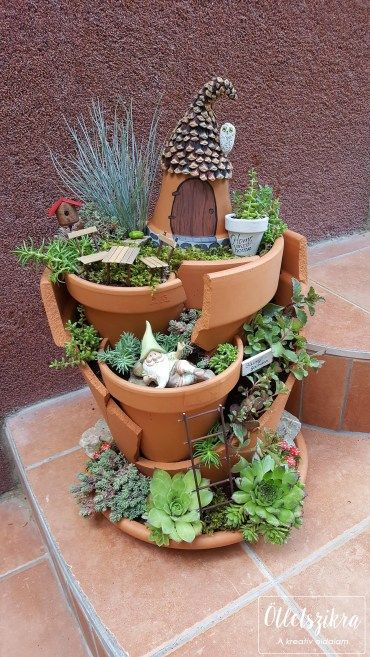 Clay Pot Fairy garden  Virágcserépből Tündérkert