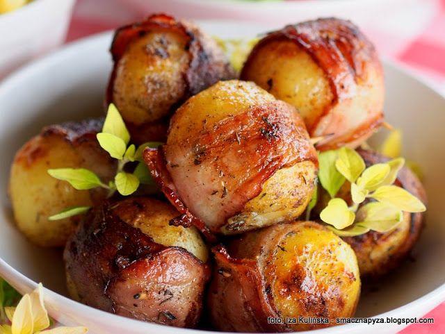 Smaczna Pyza - Sprawdzone przepisy kulinarne: Ziemniaki grillowane w boczku