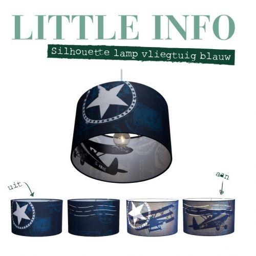 Little Dutch silhouette hanglamp vliegtuig blauw | Lampen | Babykamer | Kamers | HippeKinderSpullen.nl