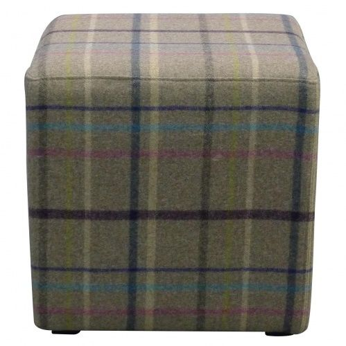 Our Jasper Cubes make fab seating, footstools, tables or even a last min Christmas present. Upholstered in stunning 100% wool from Abraham Moon. #thechairpeople #footstool #seat #table #present #wool #abrahammoon #multicheck