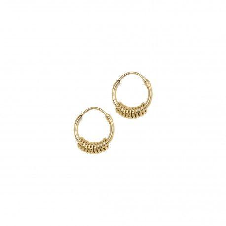 Multi Ring Earring Goldplated
