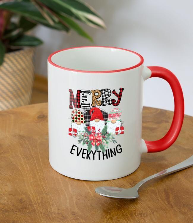 Merry Christmas Everything Two Tone Mug Spreadshirt In 2020 Christmas Trends Christmas Lovers Christmas Gifts