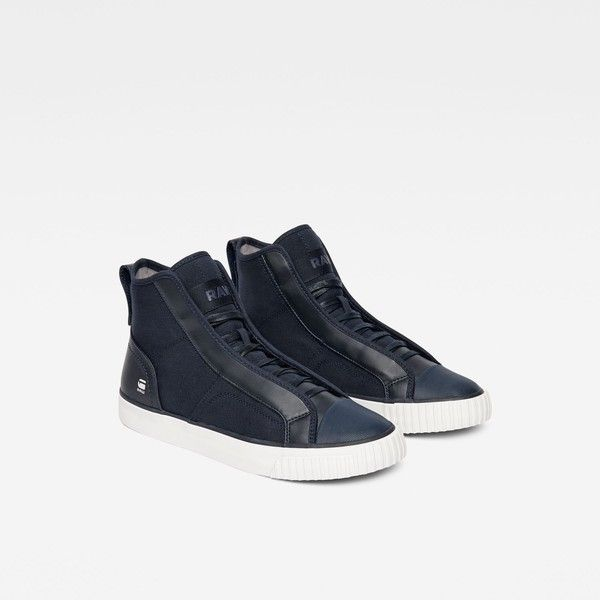 G-Star RAW Scuba Mix Sneakers (182,915 KRW) ❤ liked on Polyvore featuring shoes, sneakers, synthetic shoes, g star raw sneakers, g-star raw and g star raw shoes