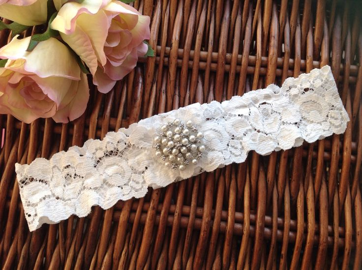 Handmade, bespoke made to measure garter from Lilly Dilly's #wedding #bride #garter #lace #vintage #pearl #bespoke #handmade #Lilly Dilly's #tradition