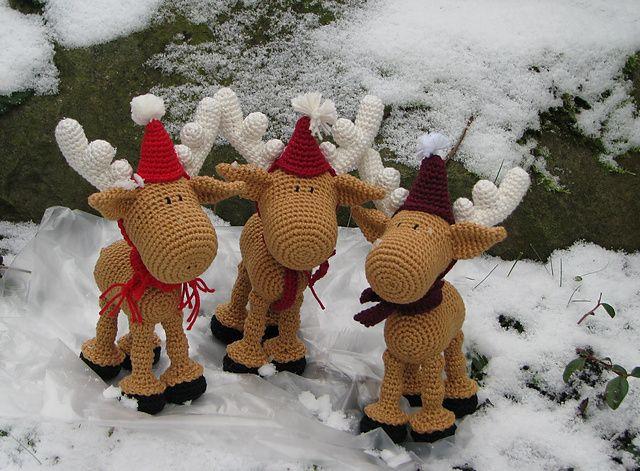 Ravelry: Tabiti's Christmas Moose amigurumi