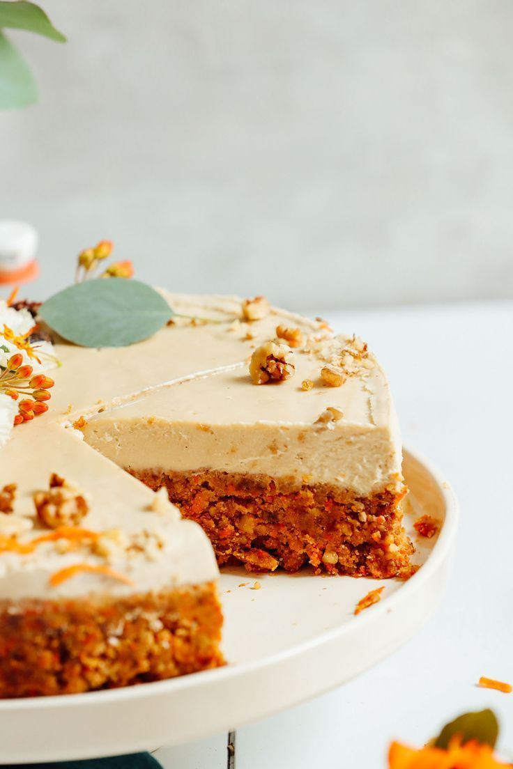Raw Carrot Cake With Vegan Cream Cheese Frosting Recipe Healthy