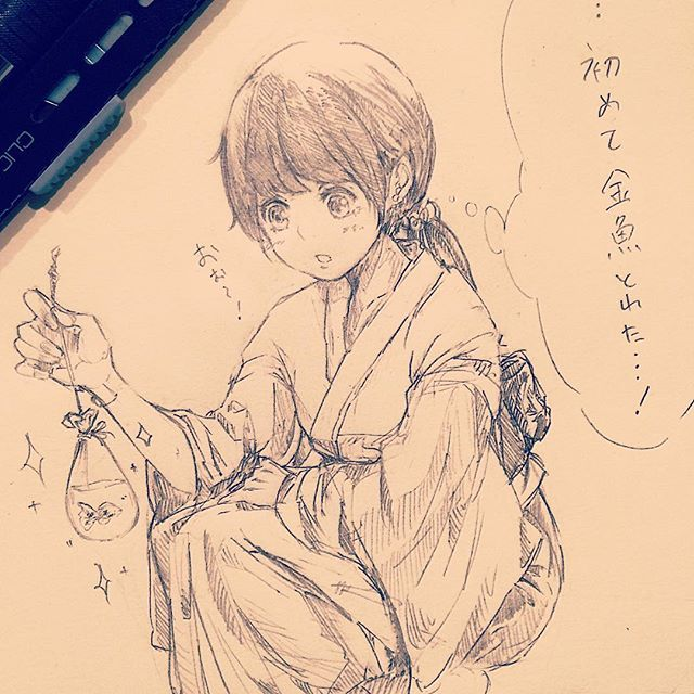 リハビリ中。描けない #illustration #doodle #drawing #otaku #manga #アナログ #絵 #イラスト #落書き