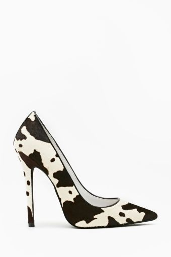 I love these cow print shoes