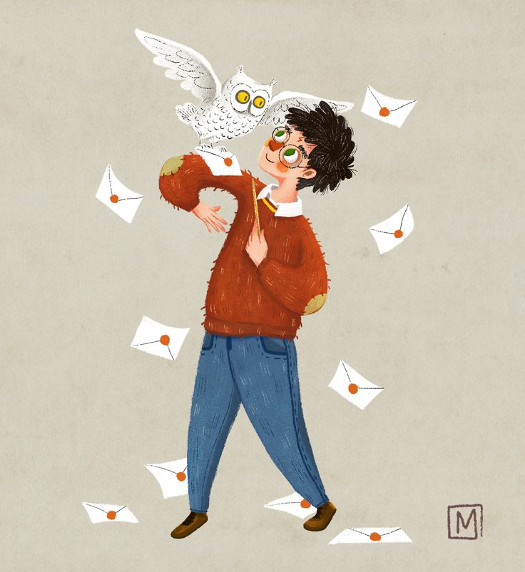 Harry Potter and Hedwig  by A Little Timon