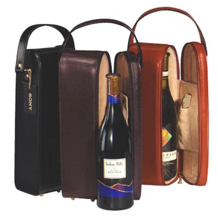 Single Wine Case with Optional Monogramming - 621-BLACK-6-PERS