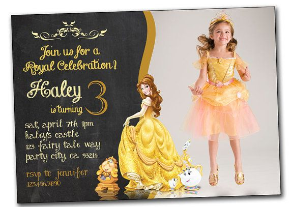 Princess Belle and the Beast Birthday by PrintablesToYou on Etsy
