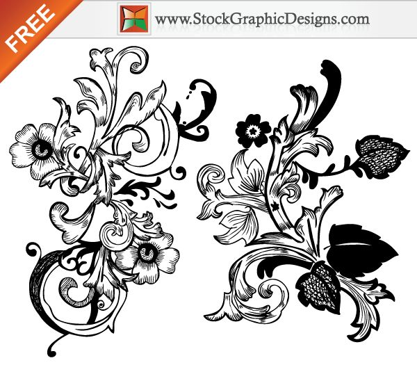 Download photoshop brushes free download  - Free vector hand drawn floral design elements with photoshop brush from StockGraphicDesigns.com. Visit http://goo.gl/o8RA8 for more High Quality Royalty Free Vector Art Images!