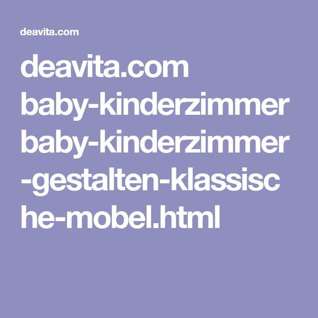 Baby Kinderzimmer gestalten klassische Möbel für Mädchen