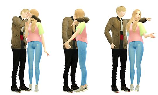 Couple Poses #5Total 6 poses in 1 packageM - F, Friendly     -     Hug     /     Romantic     -     EmbracesIf something wrong do not be afraid to write to me.My Couple poses: 1, 2, 3,4CCs List: [F] Hair | Necklace | Top | Jeans | Sneakers [M]   Hair   | Top     | Jeans |  SneakersDownload: Dropbox(Ouo-Adfly)| Guide for Download