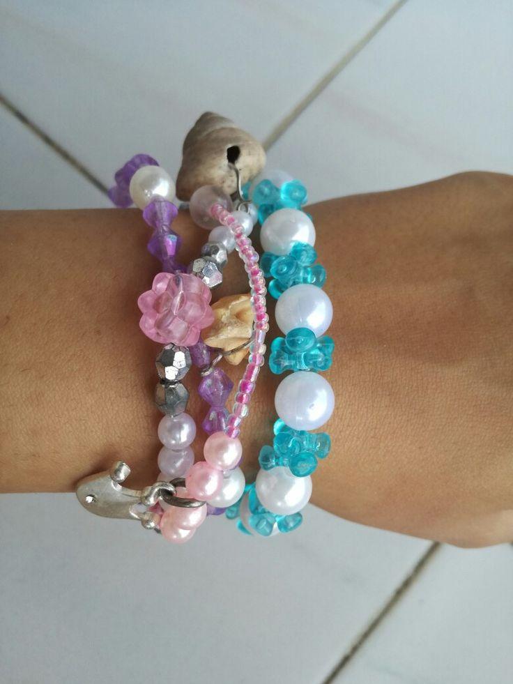 Summer bracelets, shells,  goutsouniarika kosmimata