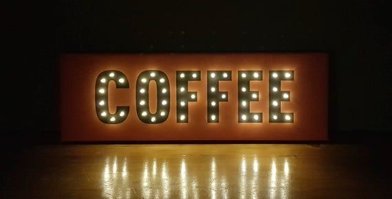 Coffee Light Up Sign Coffee Bar Sign Kitchen Decor Coffee Shop Sign Coffee Lovers Gift Coffee Wall Art Light Up Letters Marquee Light Light Up Letters Coffee Bar Signs Light Up