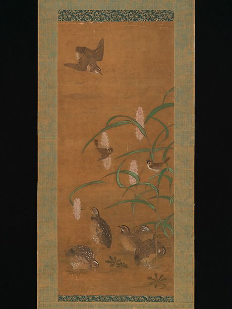 Quail, Sparrows, and Millet | Japan | Muromachi period (1392–1573) | The Met