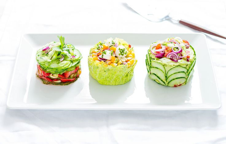 Make These Adorable Mini Salad Cakes for Your Next Potluck!