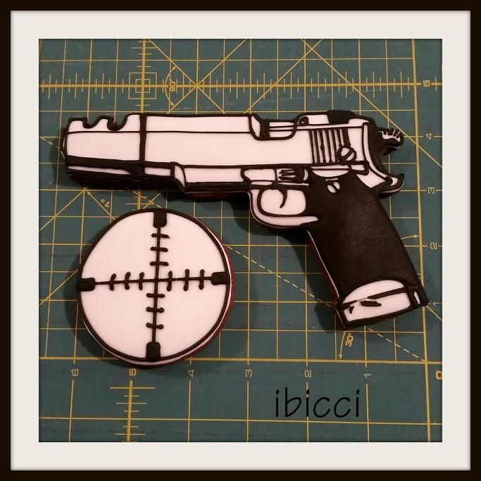 Gun cookie for my Security Officer nephew   Cookie Connection  www.facebook.com/ibiccinz