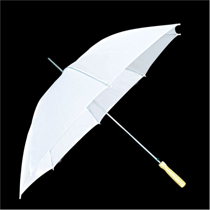White Rain Umbrellas in Bulk for Golf or Weddings - Solid or Plain White 48WHITE just in case of rain!