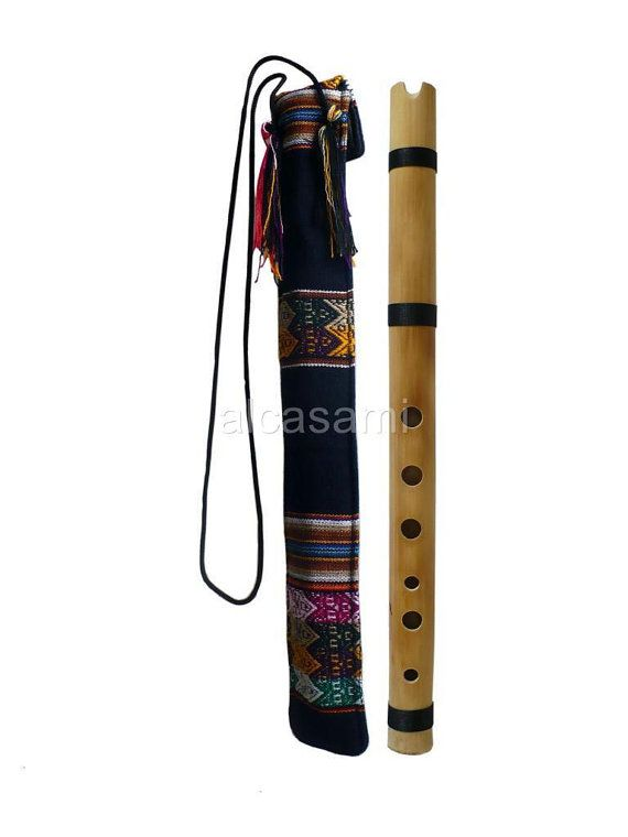 Professional Bamboo Chacon Quena Flute in G & Case by Alcasami, $33.99
