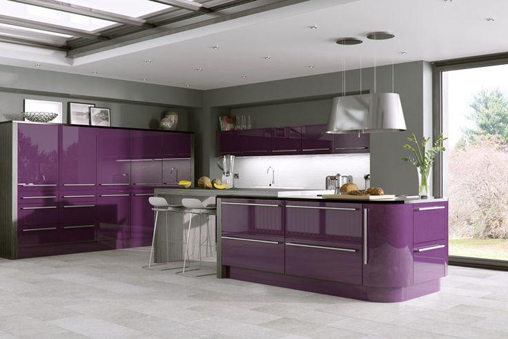 Odyssey Aubergine Acrylic Replacement Kitchen Doors~Love it